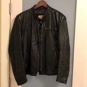 Vintage Very Cool Black Leather Biker Style Jacket